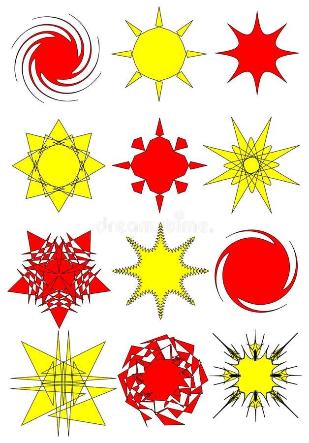 Ansammlung abstrakte Sternsymbole vektor abbildung