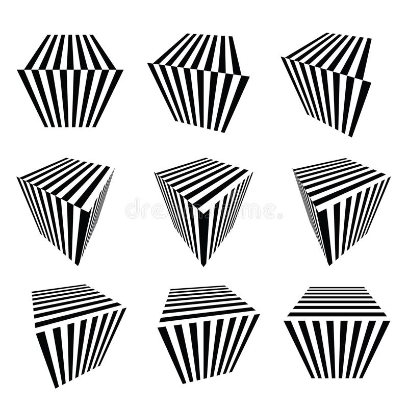 Ansammlung abstrakte Würfel vektor abbildung