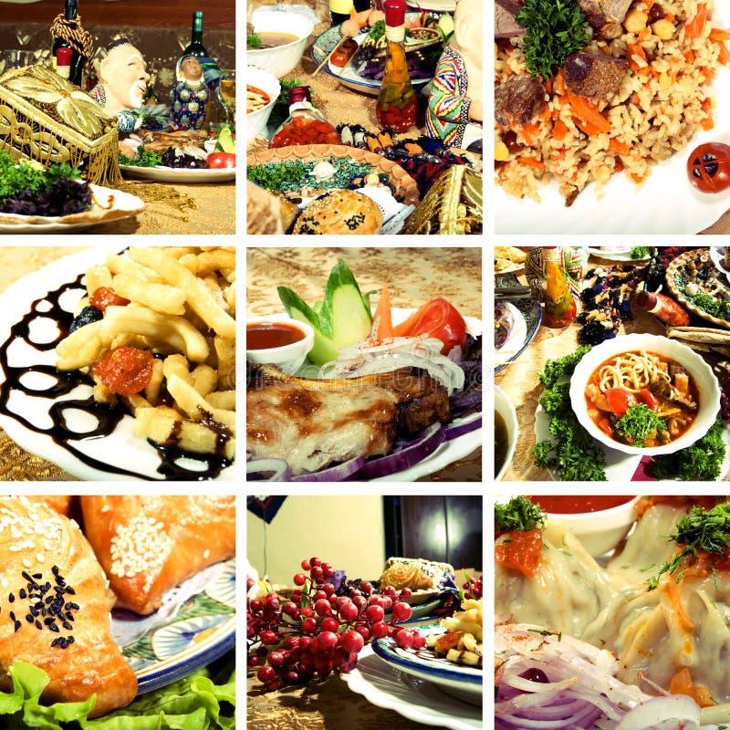 Ansammlung asiatische Teller lizenzfreies stockfoto