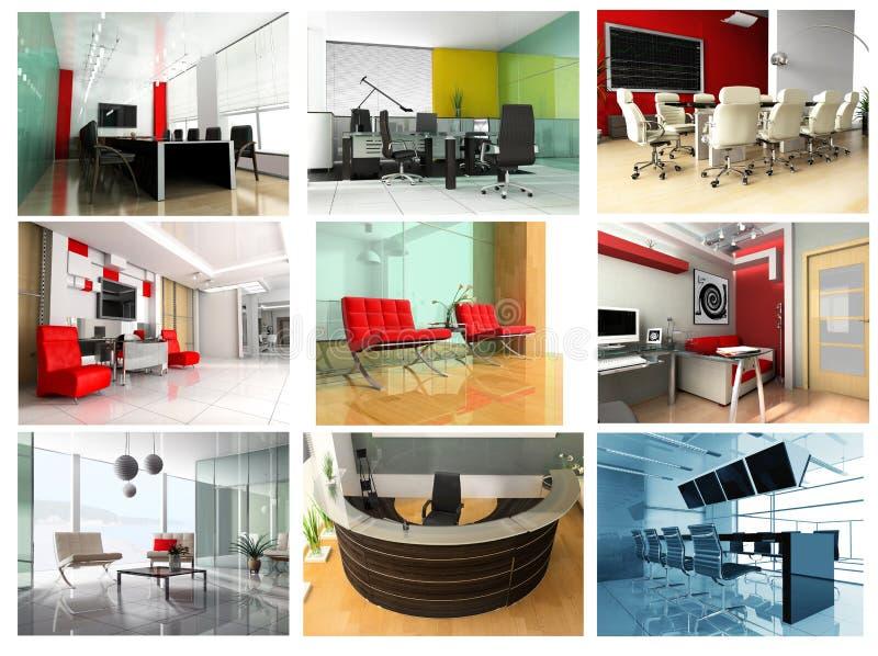 Ansammlung Bilder des modernen Büros vektor abbildung