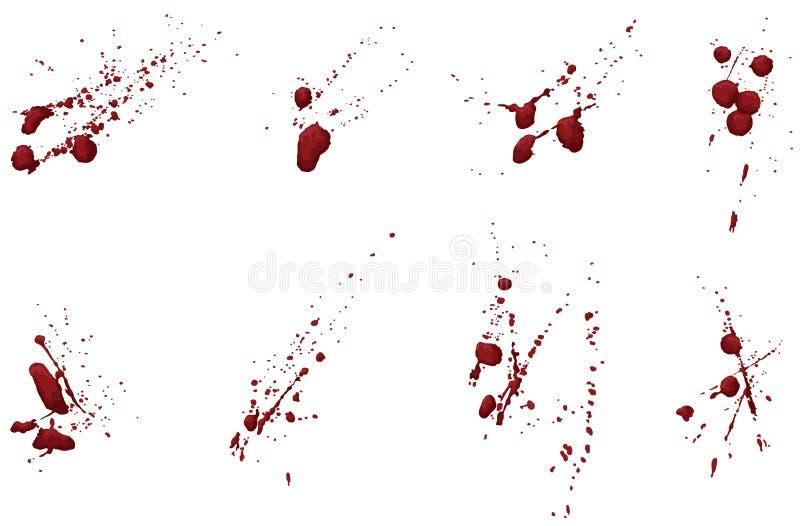 Ansammlung Blut oder Lack Splatters vektor abbildung