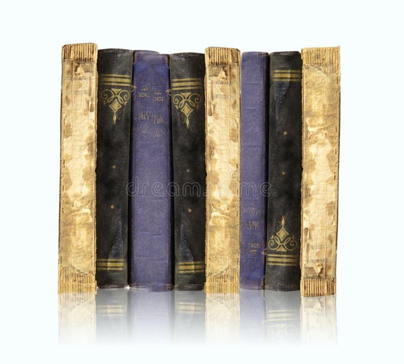 Ansammlung der alten Bücher stockbild