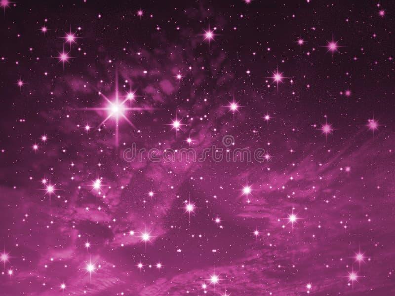 Ansammlung der Sterne lizenzfreie abbildung