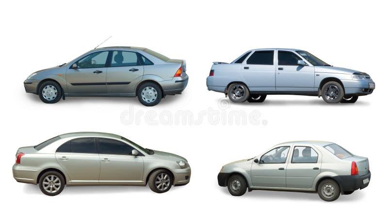 Ansammlung des grauen Autos stockbild