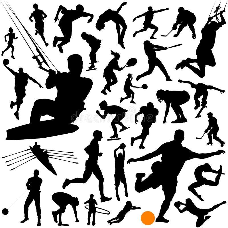 Ansammlung des Sportvektors stock abbildung