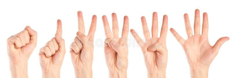 Ansammlung Hände stockfoto