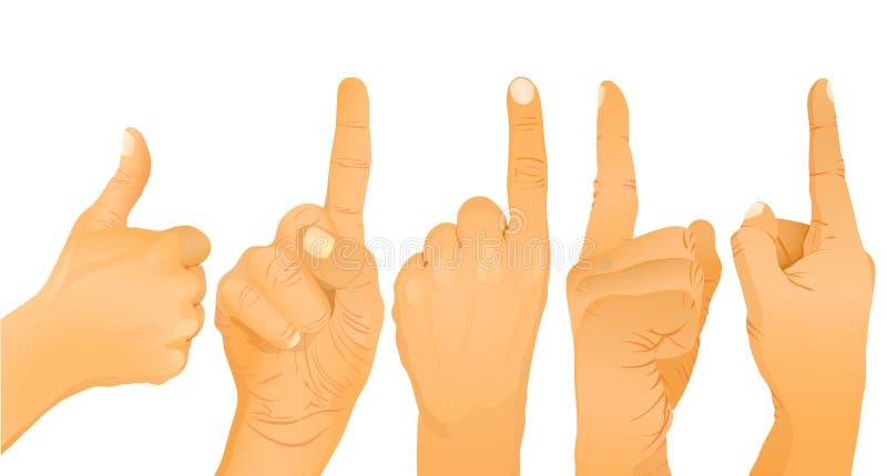 Ansammlung Hände lizenzfreie abbildung