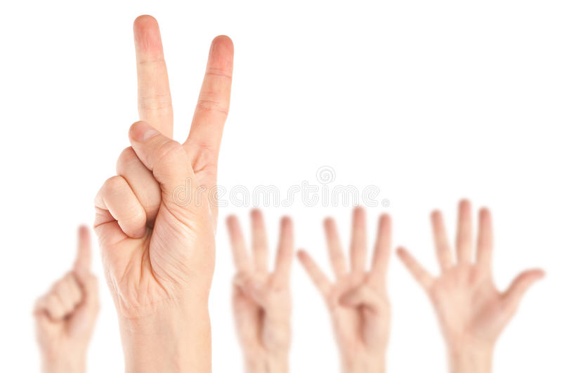 Ansammlung Hände stockbild