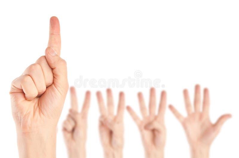 Ansammlung Hände lizenzfreies stockbild