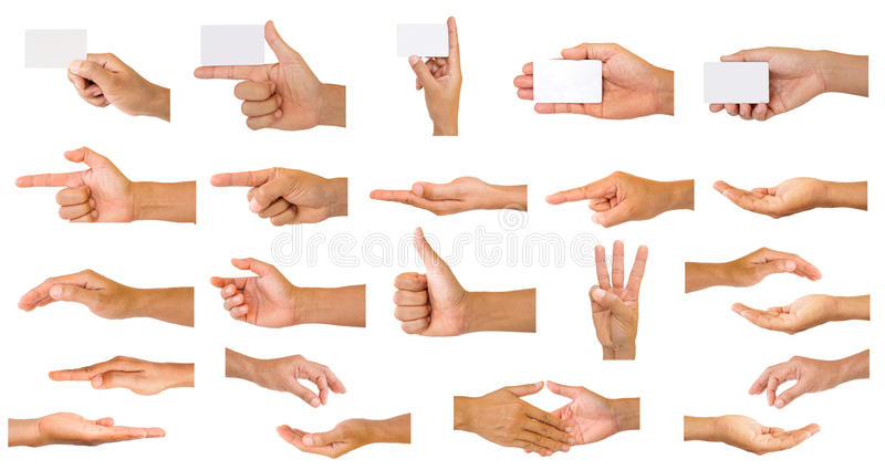 Ansammlung Hände lizenzfreie stockbilder