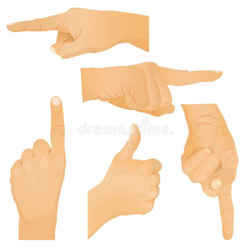 Ansammlung Handgesten. vektor abbildung
