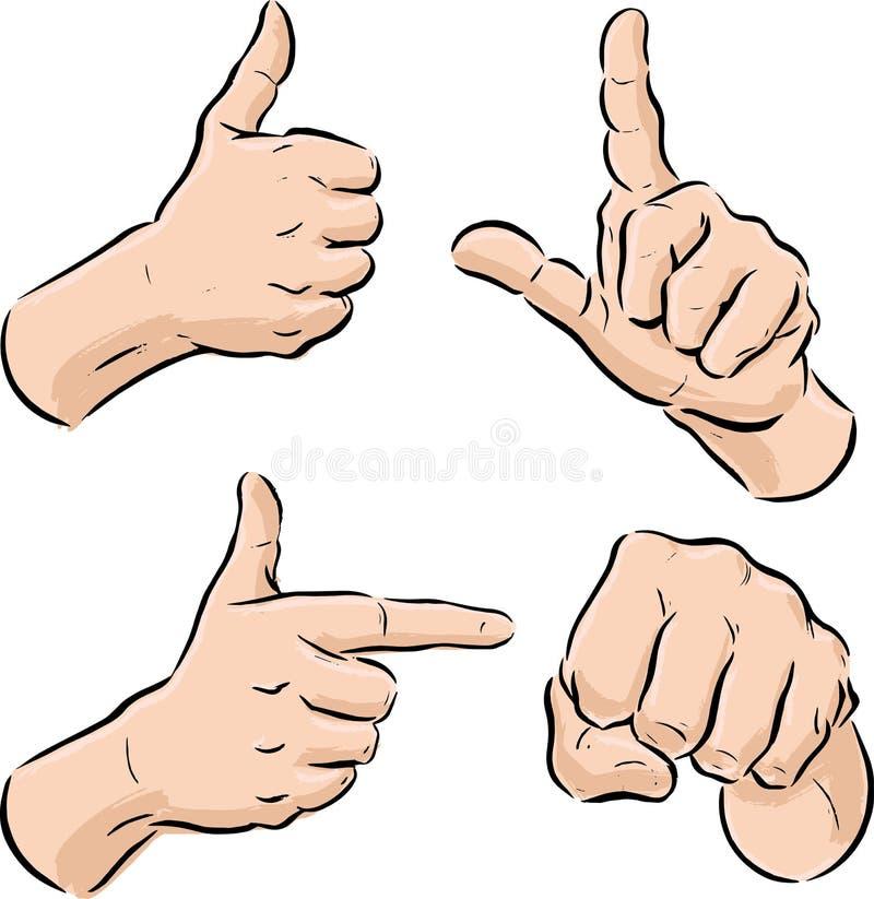 Ansammlung Handsymbole vektor abbildung