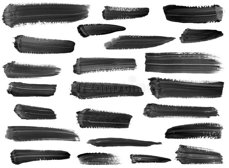 Ansammlung künstlerische Lackstreifen getrennt vektor abbildung