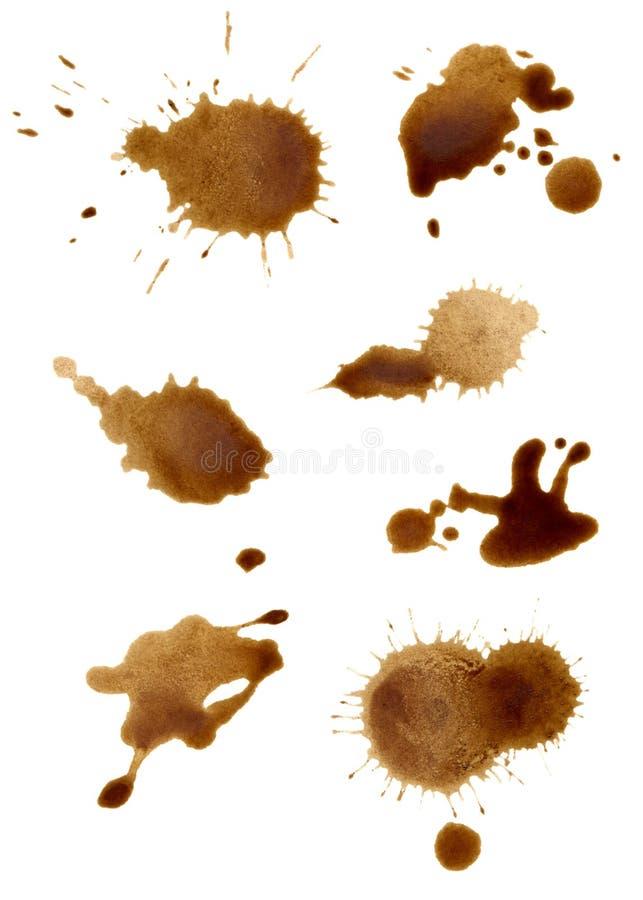 Ansammlung Kaffee spritzt