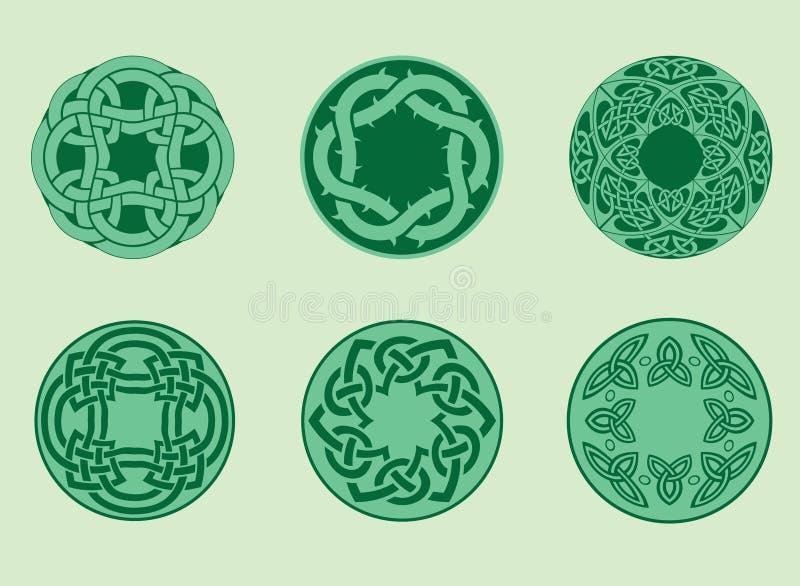 Ansammlung keltische Elemente stock abbildung