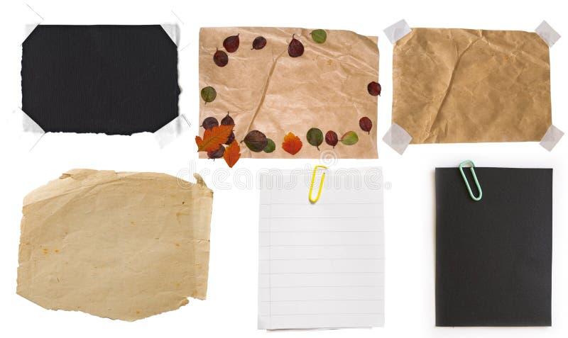 Ansammlung Papieranmerkungen lizenzfreie stockbilder