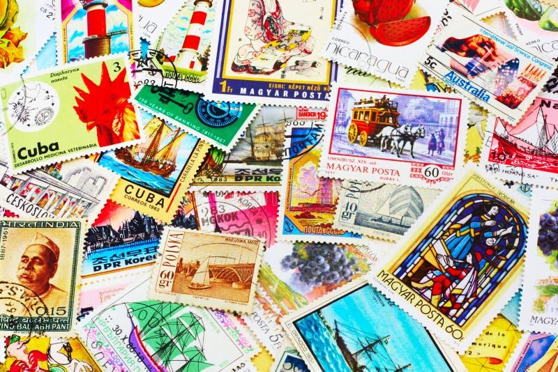 Ansammlung Poststempel lizenzfreie stockfotos