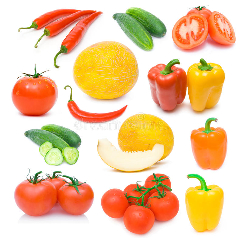 Ansammlung reife Gemüsebilder lizenzfreie stockfotografie