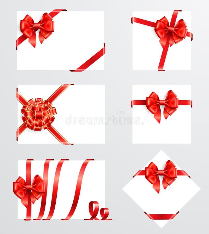 Ansammlung rote Bögen vektor abbildung