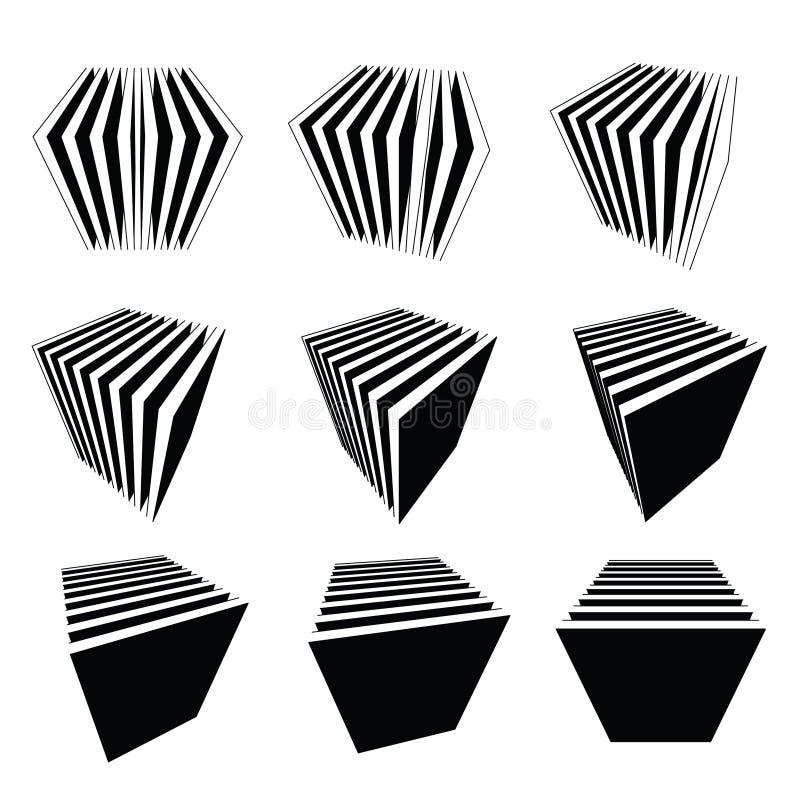 Ansammlung Spaltewürfel vektor abbildung