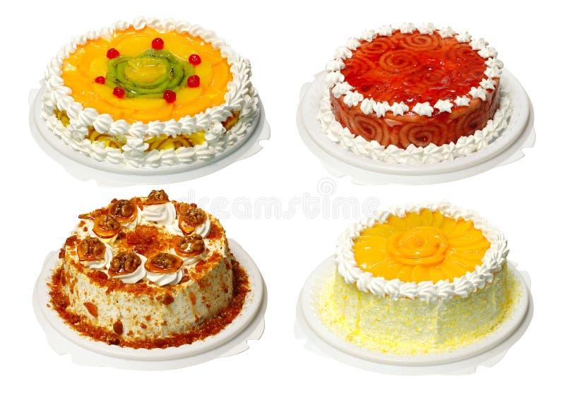 Ansammlung von Kuchen vier stockfotos