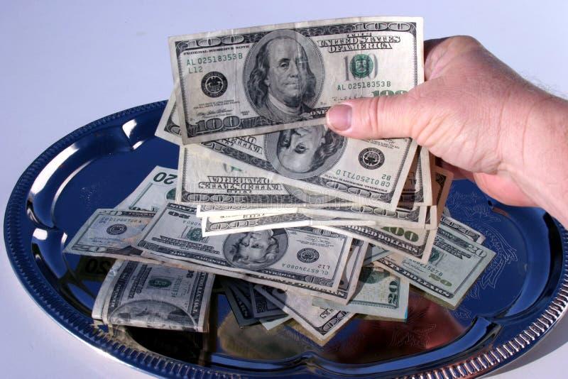 Download Ansammlungsplatte stockbild. Bild von bargeld, platte, tellersegment - 47695