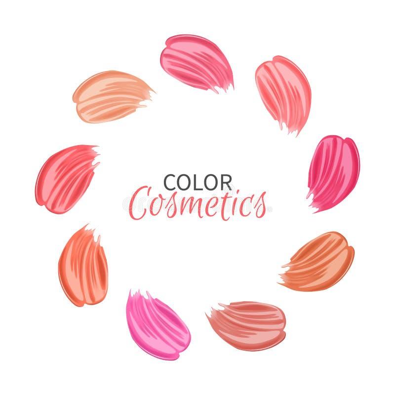 Anschläge von verschiedenen Farben der Lippenstifte stock abbildung