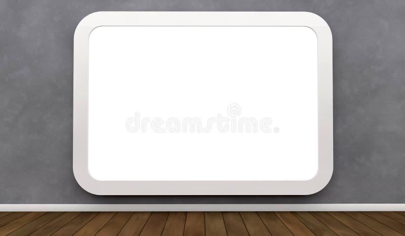 Anschlagtafel auf einer Wand lizenzfreies stockbild