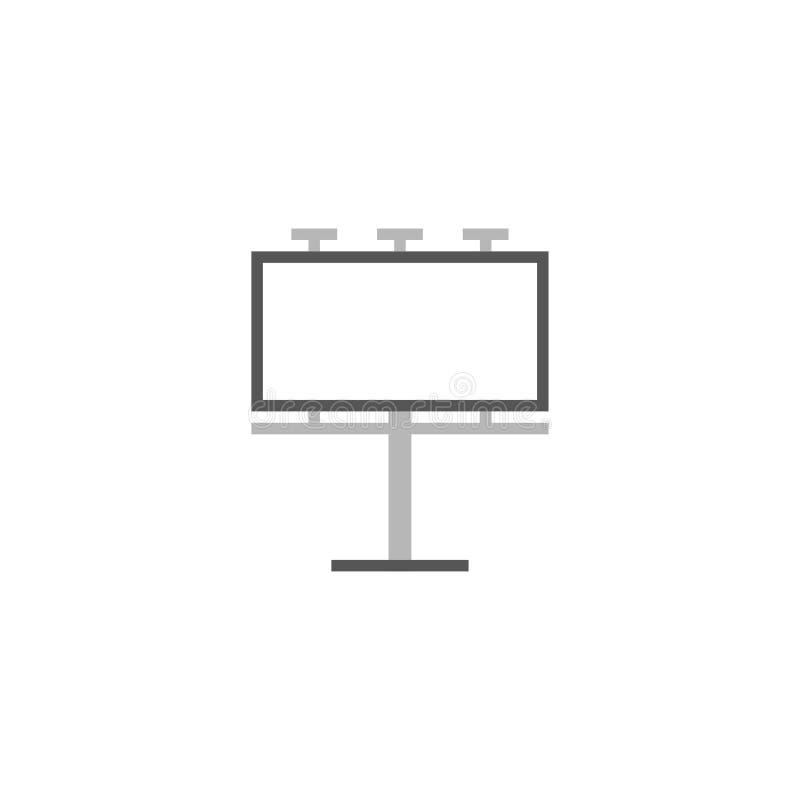 Anschlagtafel-flacher Ikonen-Vektor, Symbol oder Logo vektor abbildung