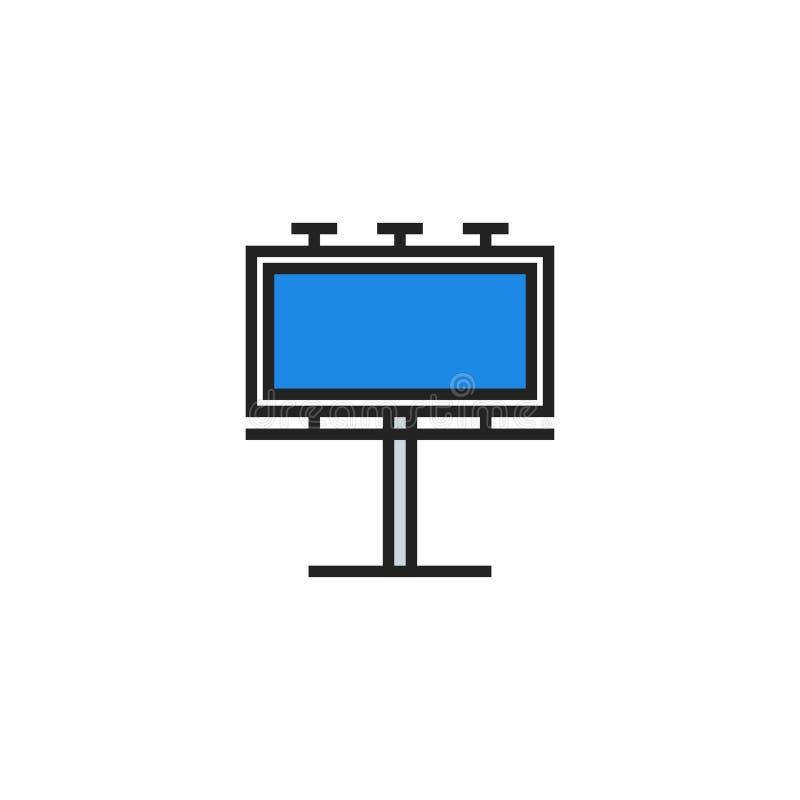 Anschlagtafel-flacher Ikonen-Vektor, Symbol oder Logo lizenzfreie abbildung