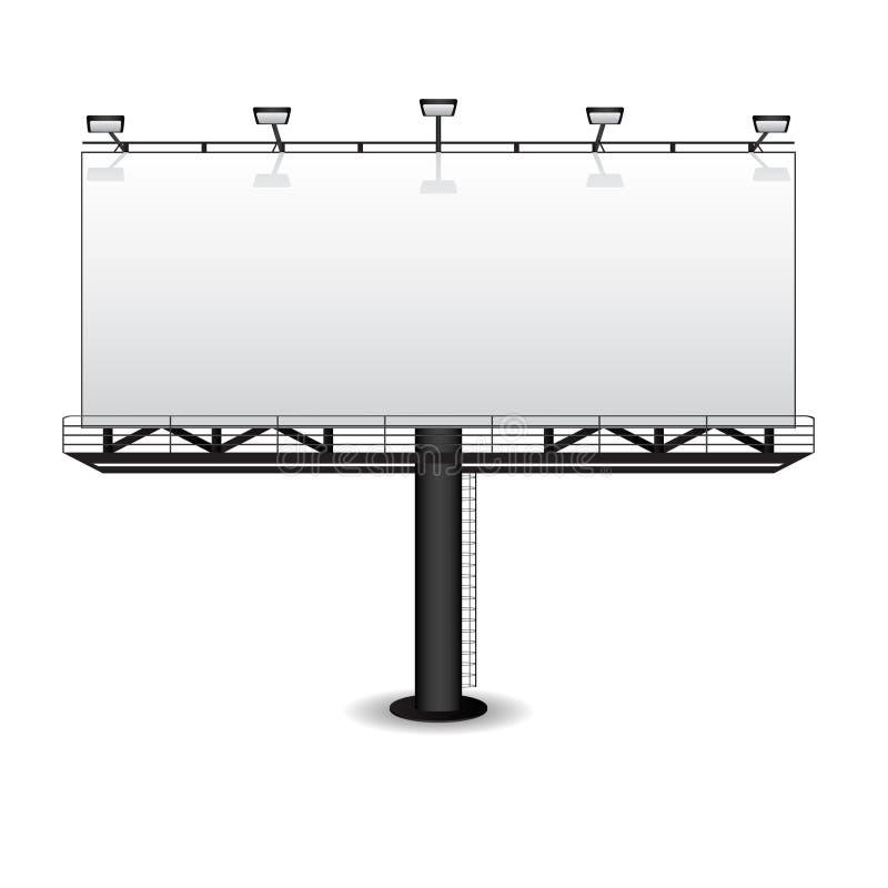 Anschlagtafel im Freienbekanntmachens stock abbildung
