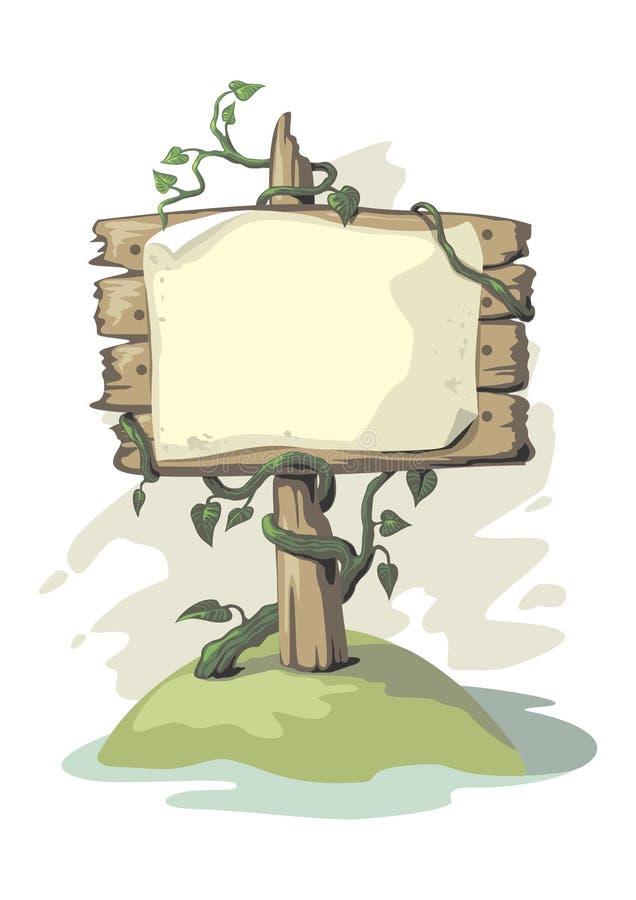 Anschlagtafel mit Anlage lizenzfreie abbildung