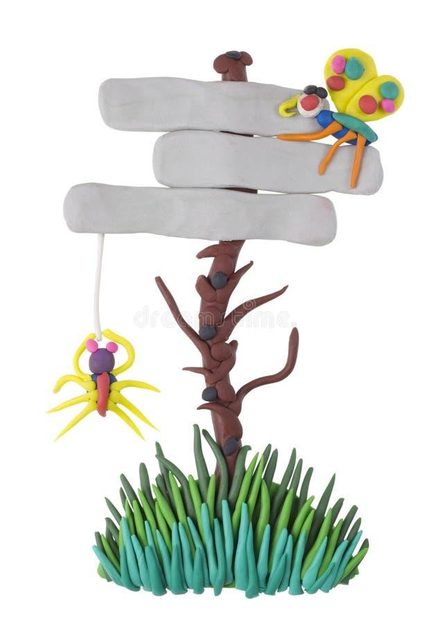 Anschlagtafel mit einer Spinne und einer Basisrecheneinheit stockbilder