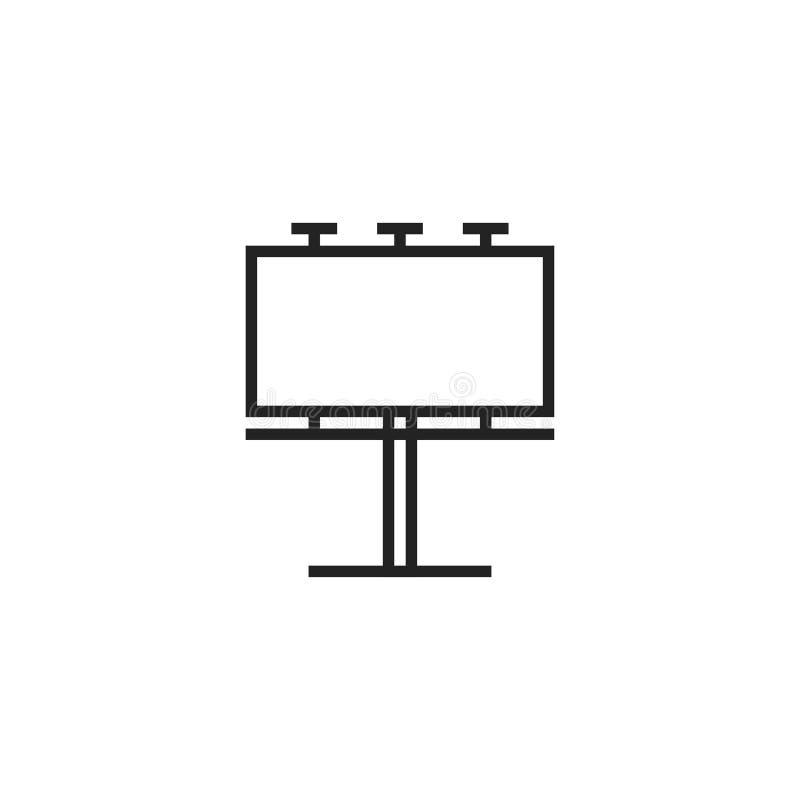 Anschlagtafel Oultine-Vektor-Ikone, Symbol oder Logo stock abbildung