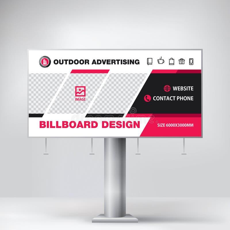 Anschlagtafeldesign, Schablone für Werbung im Freien, modernes Geschäftskonzept Kreativer Hintergrund stockbild