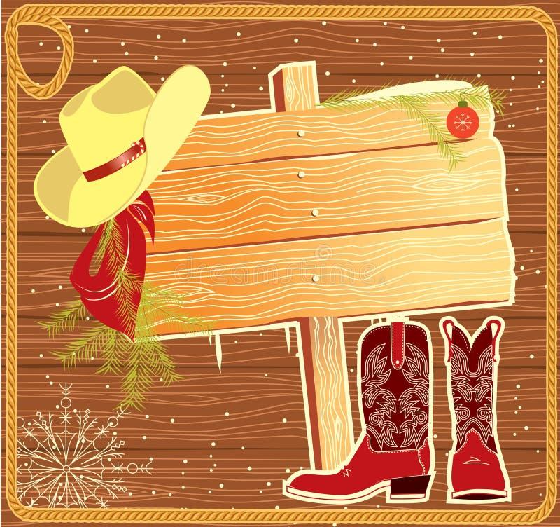 Anschlagtafelfeld mit Cowboyhut. lizenzfreie abbildung