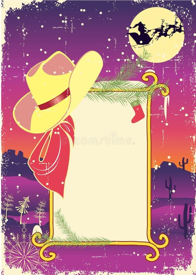 Anschlagtafelfeld mit Cowboyhut lizenzfreie abbildung