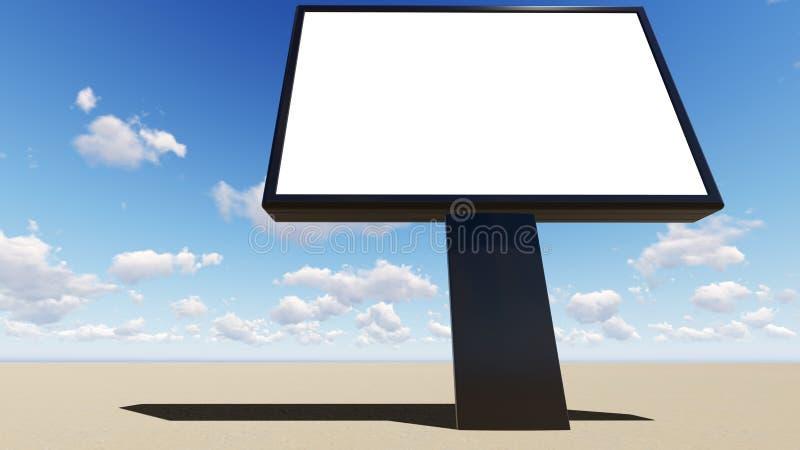 Anschlagtafelfreier raum für Werbung- im Freienplakat stock abbildung