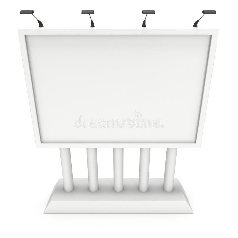 Anschlagtafelfreier raum für Werbung- im Freienplakat lizenzfreie abbildung