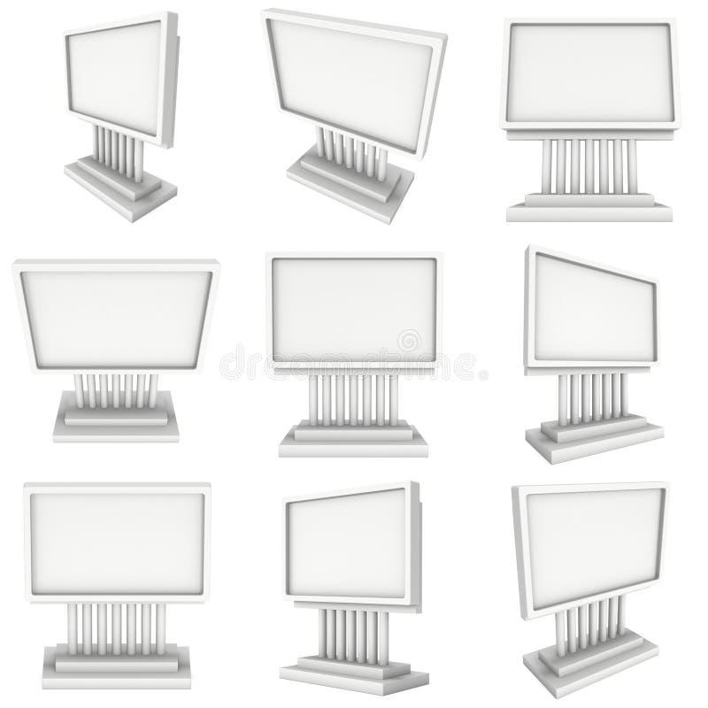 Anschlagtafelfreier raum für Werbung- im Freienplakat vektor abbildung
