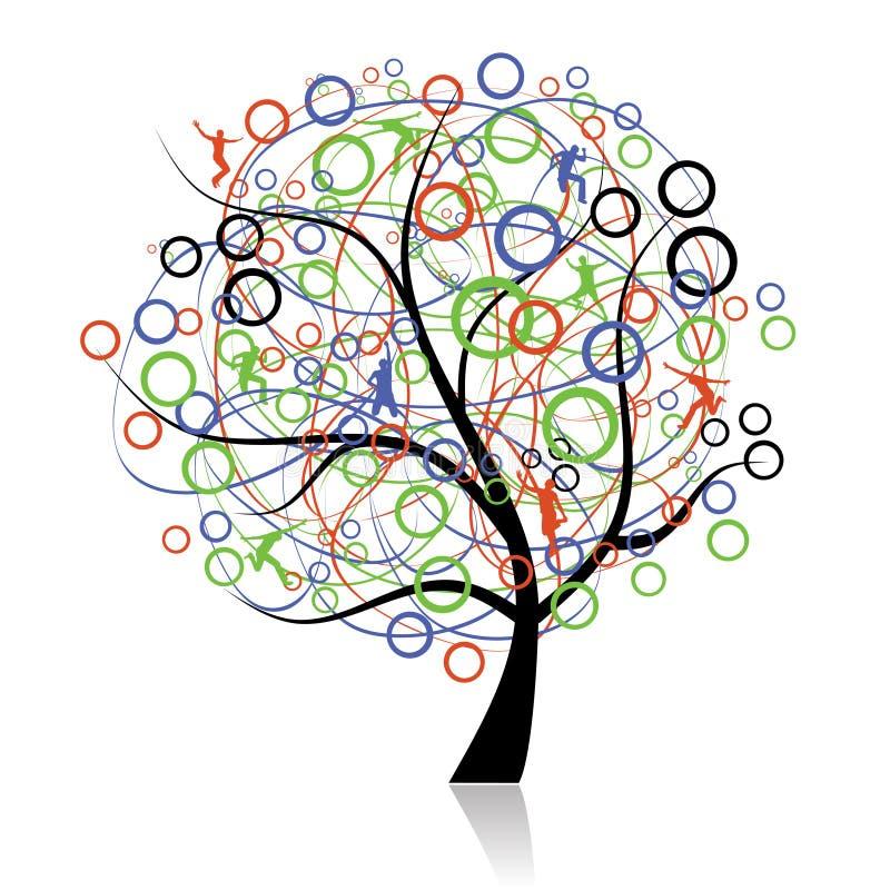 Anschließenvölker, Web-Baum lizenzfreie abbildung