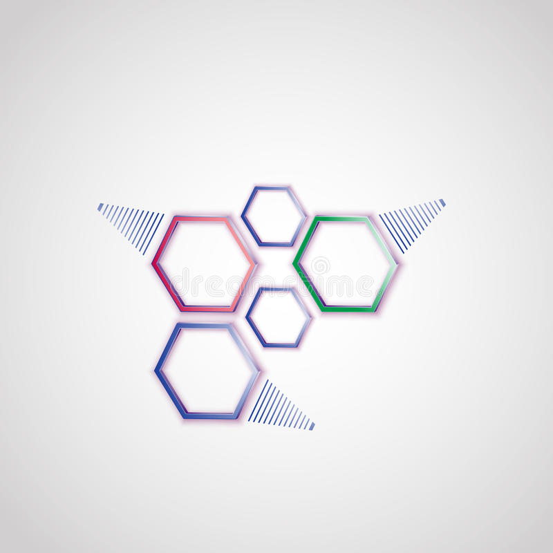 Anschluss der sechseckigen Zellen graphiken lizenzfreie abbildung
