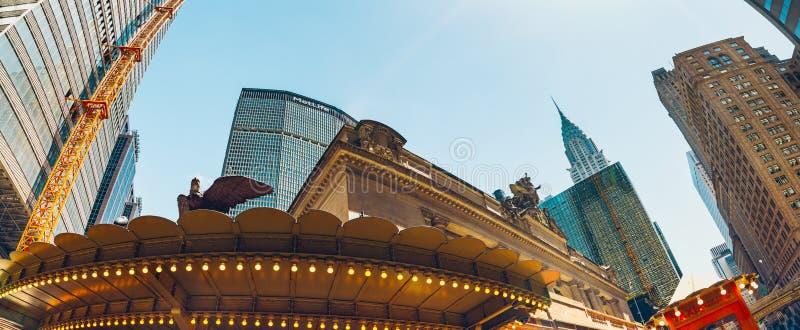 Anschluss New York City Grand Central, Eingangs-Ost42. Straße an Vanderbilt-Allee, Midtown Manhattan lizenzfreies stockbild