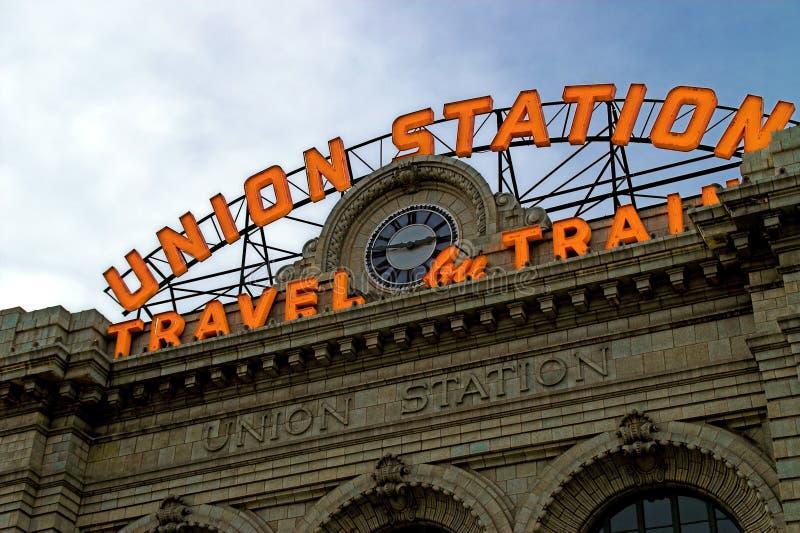 Anschluss-Station in Denver Kolorado stockbild