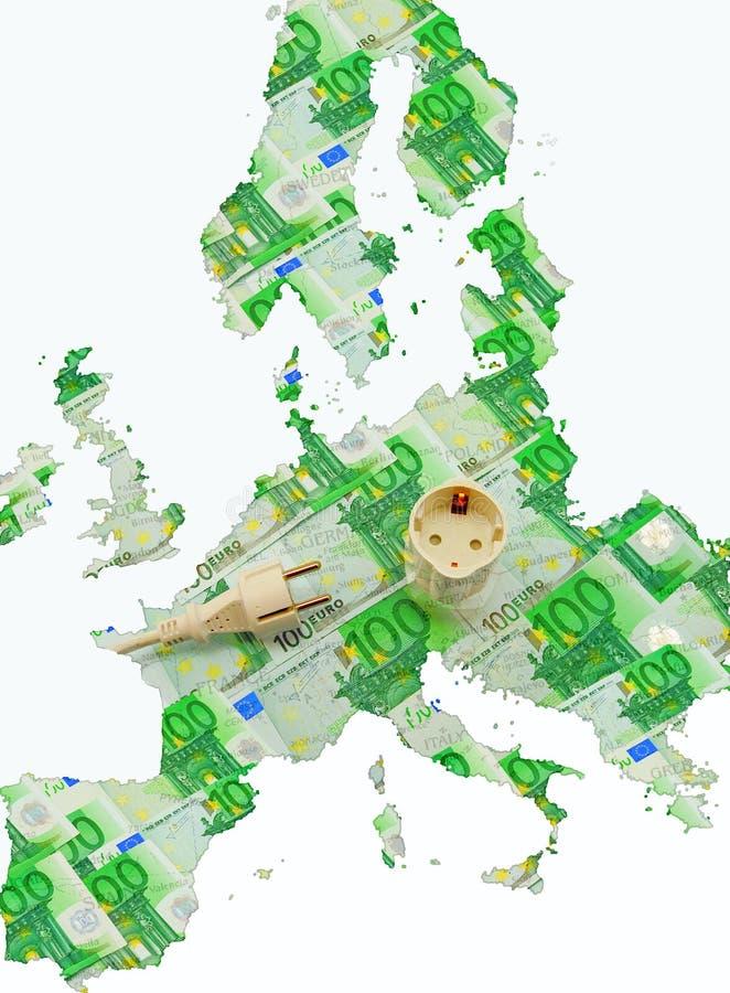 Anschlusseuropa-Energie vektor abbildung
