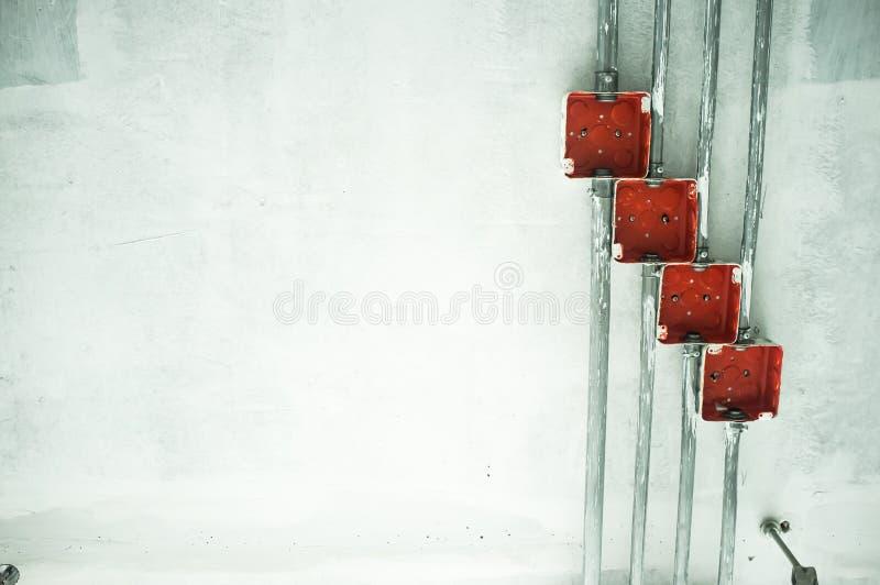 Anschlusskasten elektrisch lizenzfreies stockbild