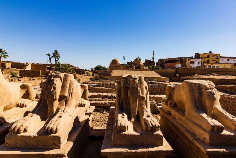 Anscient świątynia Karnak w Luxor - Rujnujący Thebes Egipt zdjęcia stock