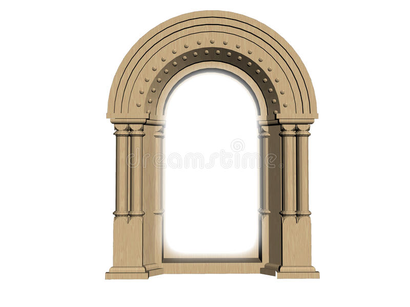 Anscient gate. Ancient style gate made in 3 dimensional CG vector illustration