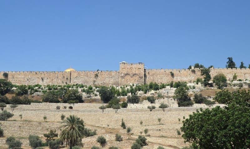 Anscient väggar av Jerusalem, Israel royaltyfria bilder