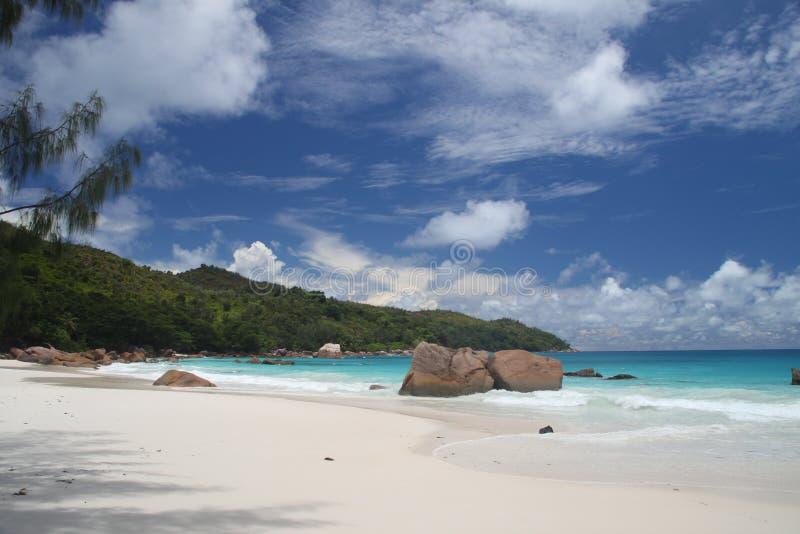 anse拉齐奥塞舌尔群岛 库存图片
